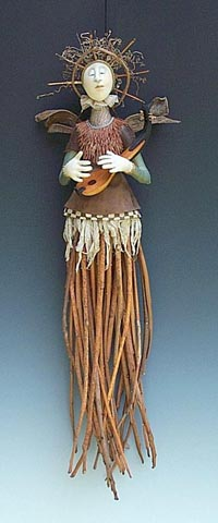 Sumac Angel w Gourd Harp copyright 2002 Akira Studios all rights reserved
